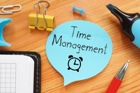Time Management is shown on the conceptual business photo