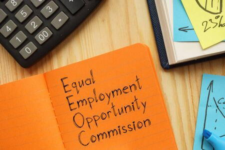 Equal Employment Opportunity Commission EEOC is shown on the business photo