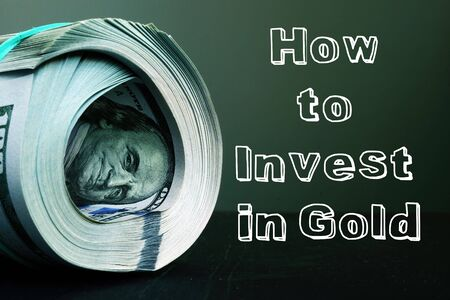 How to Invest in Gold is shown on the conceptual business photo Stock fotó