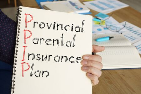 Provincial Parental Insurance Plan PPIP is shown on the conceptual photo