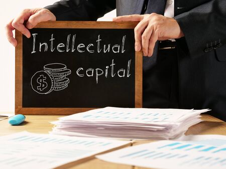 Intellectual capital is shown on the conceptual business photo