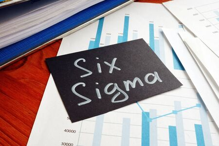 Six sigma is shown on the conceptual business photo