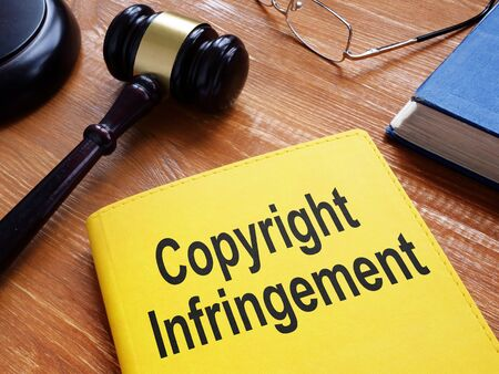 Copyright Infringement is shown on the conceptual business photo 版權商用圖片