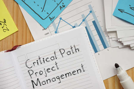 Critical Path Project Management CPM is shown on the conceptual business photo Banco de Imagens
