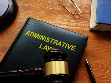 Administrative law is shown on the conceptual business photo