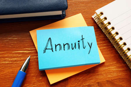 Annuity is shown on the conceptual business photo Stock Photo