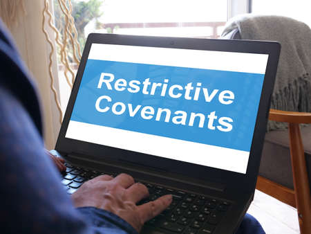 Restrictive Covenants is shown on the conceptual business photo