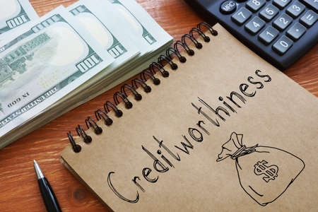 Creditworthiness is shown on the conceptual business photo
