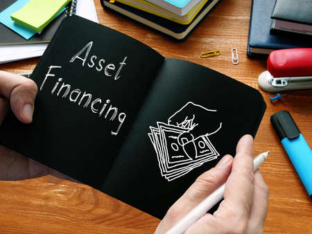 Asset Financing is shown on the conceptual business photo