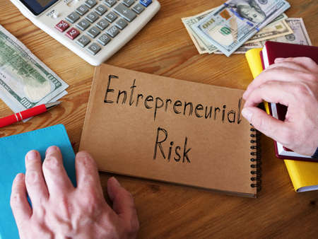 Entrepreneurial Risk is shown on the conceptual business photo Zdjęcie Seryjne