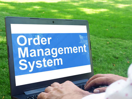 Order Management System OMS is shown on the conceptual business photo