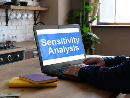 Sensitivity Analysis is shown on the conceptual business photo