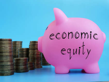 Economic equity is shown on the conceptual business photo
