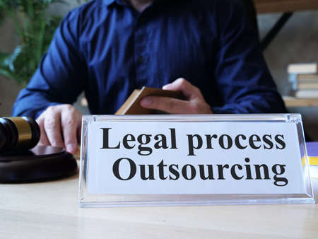 Legal process outsourcing is shown on the photo using the text
