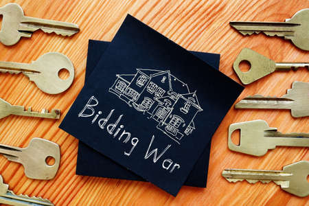 Buying a Home in a Bidding Waris shown on the photo using the text