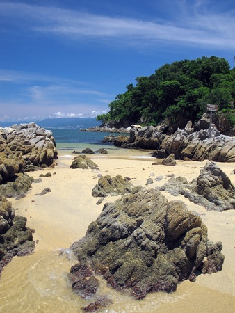 Rock Outcroppings by Las Caletas, Beach in Puerto Vallarta Mexico