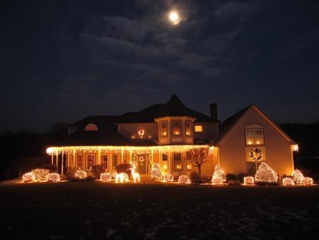 holiday home: Casa de Navidad Foto de archivo