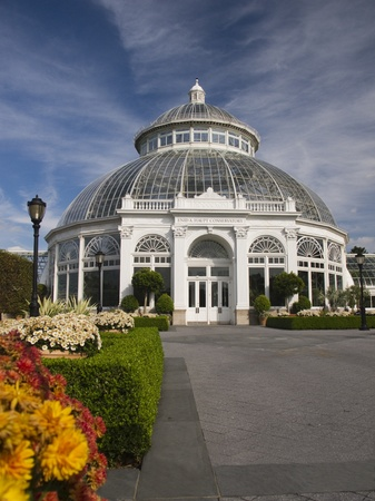 The Enid A. Haupt Conservatory at the New York Botanical Garden in the Bronx photo
