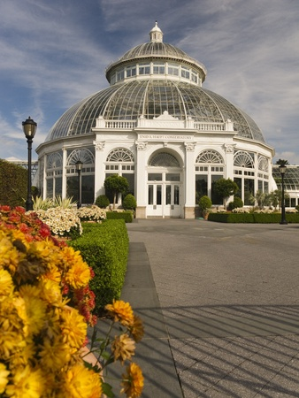 conservatory: The Enid A. Haupt Conservatory at the New York Botanical Garden in the Bronx