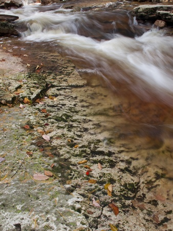 lapse: Detail of a time lapse stream, shot in slow shutter