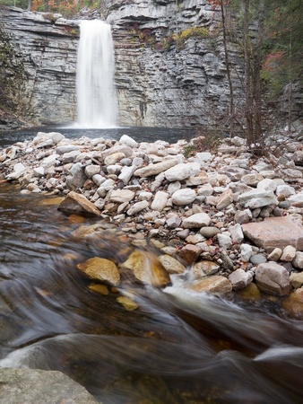 time lapse: Time Lapse Waterfall and Stream  soft motion blur
