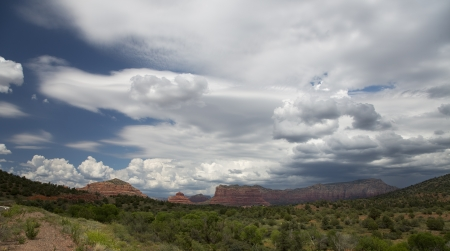 Cloudscape and Mountainscape of Red Rocks of Sedona photo