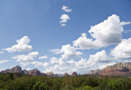 View of The Red Rocks of Sedona Stock Photo