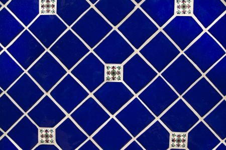 Diamond Shaped Ceramic Tile Pattern in deep blue  backgrounds and wallpaper