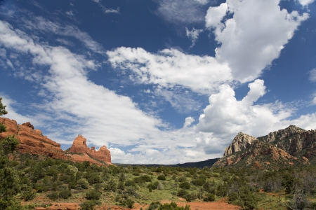 View of The Red Rocks of Sedona  taken from Schnebly Hill Road  photo