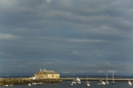 Waterfront scene in Provincetown Massachussetts at sunset Stock Photo - 15986436