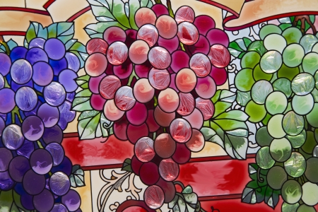 Stained Glass grape clusters  closeup