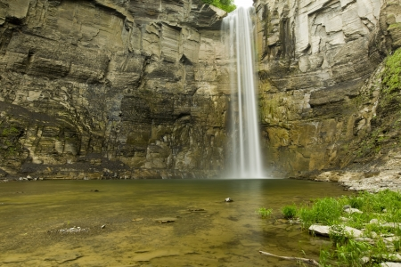 Time Lapse Waterfall in a Gorge  soft motion blur  photo