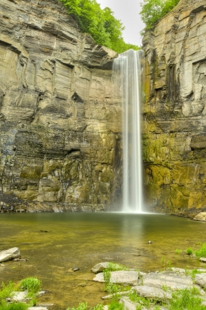 lapse: Time Lapse Waterfall in a Gorge  soft motion blur