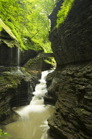Waterfalls at Watkins Glen  long exposure photography