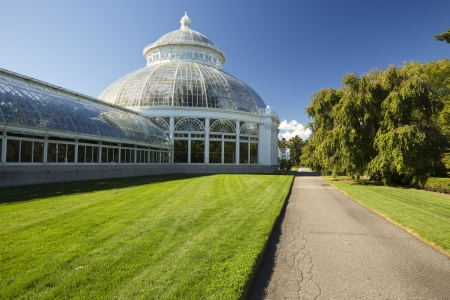 The Enid A  Haupt Conservatory at the New York Botanical Garden in the Bronx Editorial