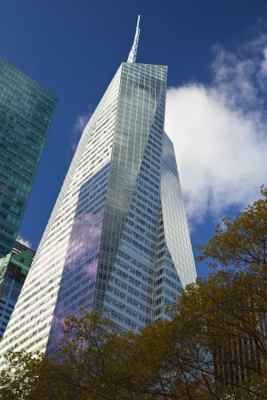 NEW YORK CITY, November 19, 2013  Bank of America Tower in Midtown Manhattan, New York City Stock Photo