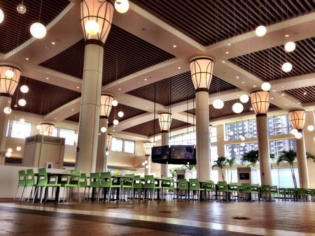 Interior food court at a mall Stock Photo - 31383713