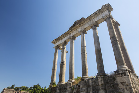 Temple of Saturn in the Roman Forum Stock Photo - 31817840