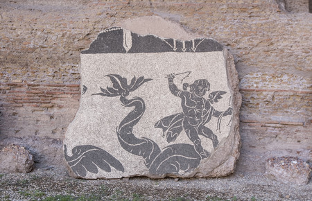 Detail of a mosaic from the Baths of Caracalla in Rome photo