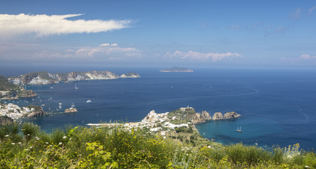 Aerial Panoramic of Ponza Italy