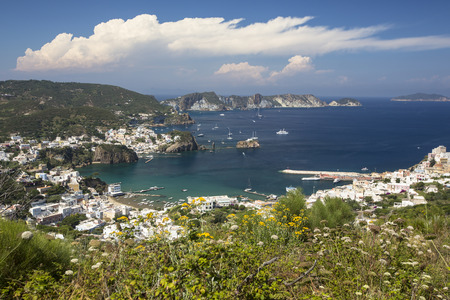 Panorama View of Mediterranean Island Coastline (Ponza, Italy)