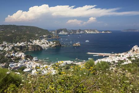 Panorama View of Mediterranean Island Coastline (Ponza, Italy) Stock Photo - 32988244