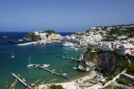 Aerial View of the Main Port of Ponza, Italy