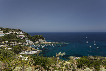 Panorama View of Mediterranean Island Coastline (Ponza, Italy) Stock Photo - 34124815