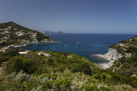 Panorama View of Mediterranean Island Coastline (Ponza, Italy) Stock Photo - 34124818