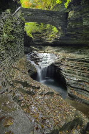 The Gorges at Watkins Glen State Park in New York Stock Photo - 34944709