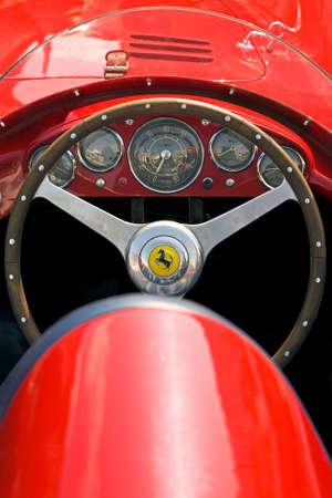 ferrari: Historic Ferrari, on display at a gathering of vintage cars