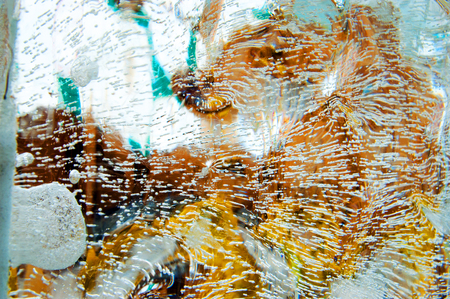 texture of ice with reflection and refraction