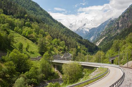 Highway in Tasch,Valais,Switzerland