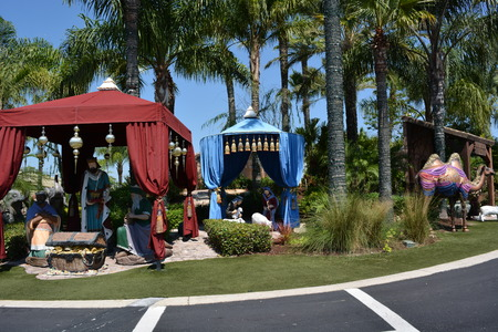 holy land: The holy land experience. Garden outdoor. Jesus story, Orlando, Florida, USA. Photo taken on May 9th, 2015 Editorial